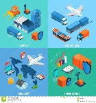 logistics-isometric-set-transport-safekeeping-delivery-d-icons-isolated-vector-illustration-52283450
