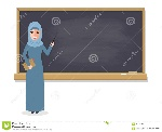 muslim-teacher-teaching-student-classroom-professor-standing-front-blackboard-school-college-university-flat-design-84970108