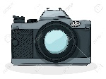 20937549-retro-estilo-de-dibujos-animados-foto-dibujo-cámara-sobre-fondo-blanco