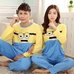 Minions-Cat-Panda-casal-pijama-define-mulheres-sleepwear-masculino-amantes-roupas