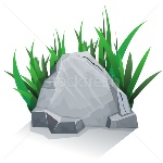5615050_stock-vector-single-stone-with-grass