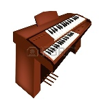 19799737-music-instrument-an-illustration-brown-color-of-vintage-pipe-organ-isolated-on-white-background