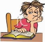 aburrido leyendo