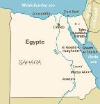 landkaart-egypte