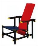 sedia blu e rossa