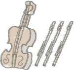 flutes and violins