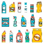 group-bottles-chemicals-household-white-background-supplies-cleaning-flat-icons-set-flat-design-concepts-web-banners-67539440
