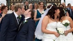 Two-same-sex-couples-get-married-in-Rotorua-New-Zealand-on-Aug.-19-2013.-AFP