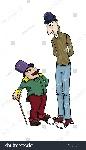 stock-vector-tall-and-short-man-cartoon-characters-vector-illustration-155529077