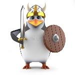 d强大学术企鹅北欧海盗战士-43079077
