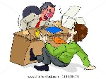 stock-vector-cartoon-illustration-of-a-boss-who-is-upset-to-his-employee-116946478