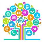 social-media-tree-icon-stock