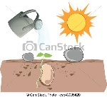 wachsen-u-bahn-pflanze-illustration_csp43085420