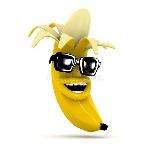 la-banana-di-risata-d-indossa-gli-occhiali-da-sole-42383464