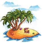30921447-illustrazione-del-tesoro-isola-e-le-palme
