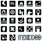 Mexico-68-Simbolos.Deportivos.B-W