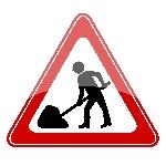Werk-in-uitvoering-verkeersbord