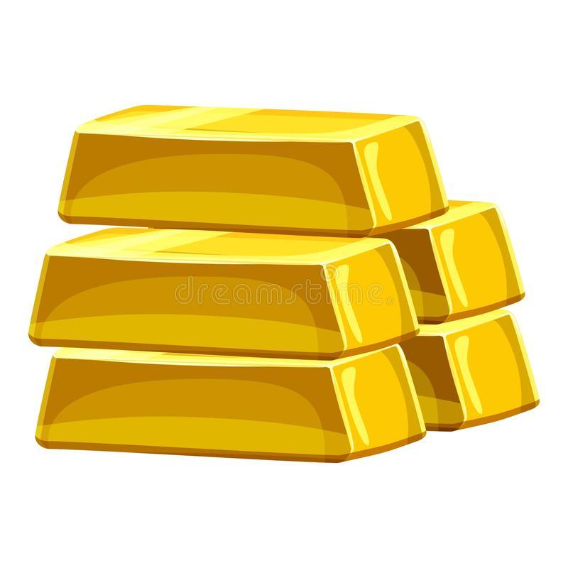 pilha-de-barras-de-ouro-ícone-estilo-dos-desenhos-animados-89670185
