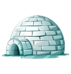 igloo-on-icy-ground-vector-8144368