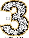 dígito-alfabeto-mano-3-dibujado-ilustración_csp41224122