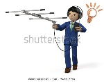 stock-photo-businessmen-collecting-information-d-illustration-749013274