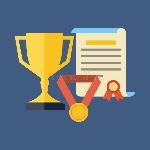 las-recompensas-logros-conceden-concepto-diseño-plano-52017513