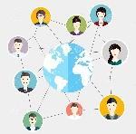 el-medio-social-circunda-la-comunicación-global-de-la-gente-negocio-plano-60143520
