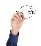 concepto-provechoso-para-ambas-partes-de-la-estrategia-27995543