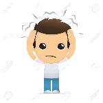 dolor de cabeza dibujo
