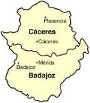 Mapa Extremadura.