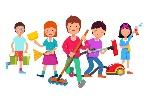 bambini-che-puliscono-gruppo-che-fa-i-lavori-domestici-82349131