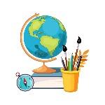 geografía-herramientas-del-globo-y-de-la-escritura-sistema-de-la-escuela-y-objetos-relacionados-de-la-educación-en-estilo-90732572
