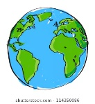 hand-drawn-earth-on-white-260nw-114350086