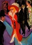 Ernst-Ludwig-Kirchner-Street-hooker-in-red.-Berlin-Street-Scene-