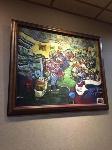 牆上的畫表現出餐廳內部的樣子