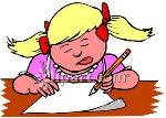0060-0909-1511-1832_A_Little_Girl_Concentrating_While_Writing_clipart_image