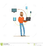 engineer-system-administrator-servicing-computer-networking-service-vector-illustration-isolated-white-background-100644178