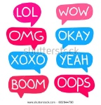stock-vector-lol-wow-omg-okay-xoxo-yeah-boom-oops-lettering-and-hand-drawn-speech-bubbles-flat-vector-682644790
